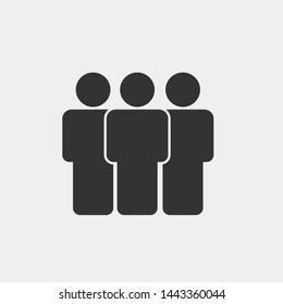 People vector icon illustration sign