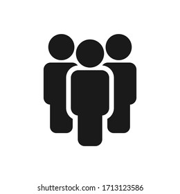 People vector icon isolated on white background.