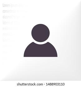 people Vector icon . Lorem Ipsum Illustration design