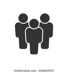People vector icon on white background