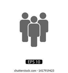 People vector icon. Person symbol. Work Group Team, Persons Crowd Vector Illustration icon. Group of people pictogram isolated.