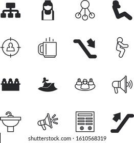 people vector icon set such as: men, paper, rental, coffee, talk, San Francisco, retro, morning, speak, medicine, set, worker, shop, focus, consumer, equipment, isometric, food, seal, discussion