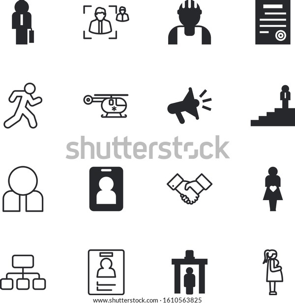People Vector Icon Set Such Fitness Stock Vector Royalty Free 1610563825