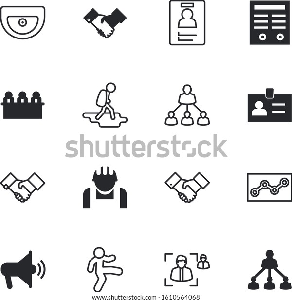 People Vector Icon Set Such Marketing Stock Vector Royalty Free
