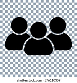 people vector icon. Transparent background