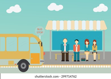 Waiting For Bus Images Stock Photos Vectors Shutterstock