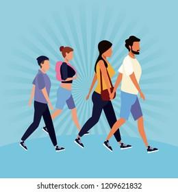 People walking avatar