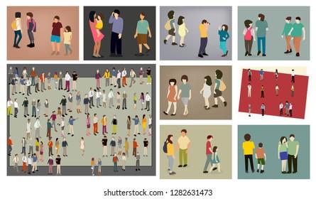 people walking concept  - Shutterstock ID 1282631473
