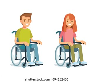 People with wheelchairs