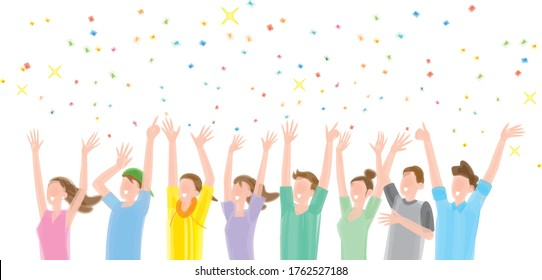 People who rejoice with confetti