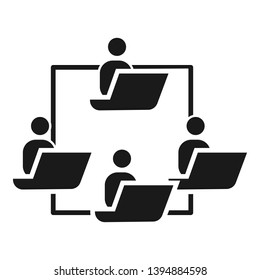 People work cohesion icon. Simple illustration of people work cohesion vector icon for web design isolated on white background