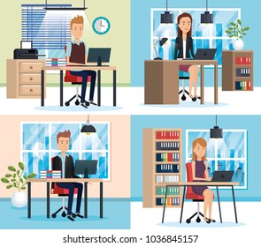 people working in the office