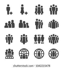 people,population icon set