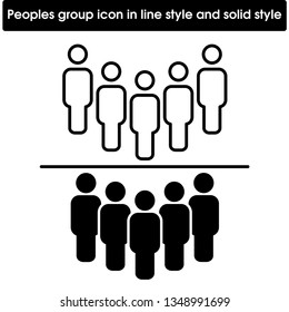 Peoples group icon. User, groups, peoples icon vector image.Can also be used for admin dashboard. Suitable for mobile apps, web apps and print media. eps file