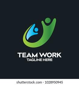 Peoples logo design vector
