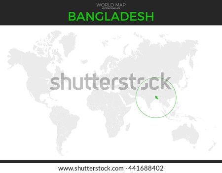 Peoples Republic Bangladesh Location Modern Detailed Stock Vector ...