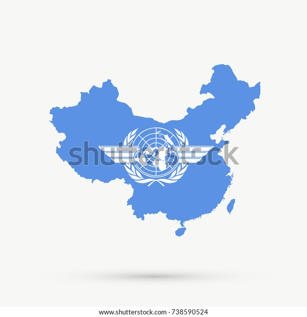 Peoples Republic China Map Icao International Stock Vector