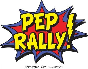 Pep rally comic burst
