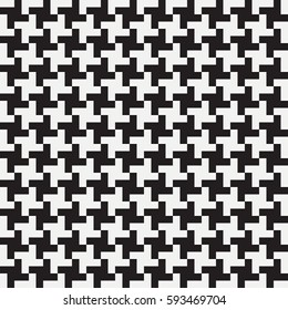 Pepita seamless pattern. Houndstooth print. Background for clothing and other textile products. Black and white backdrop. Vector illustration.