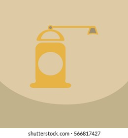 Pepper grinder spices mill silhouette on the color background. Vector illustration