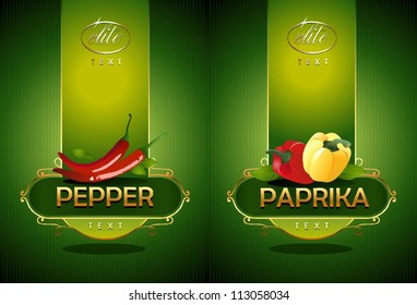 Pepper and paprika. Vector