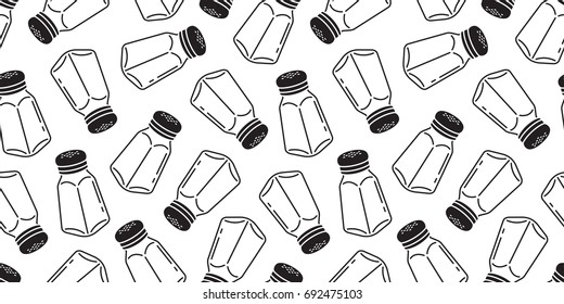 pepper Salt sugar shaker bottle seamless pattern wallpaper background