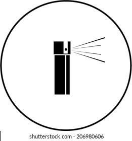 pepper spray symbol