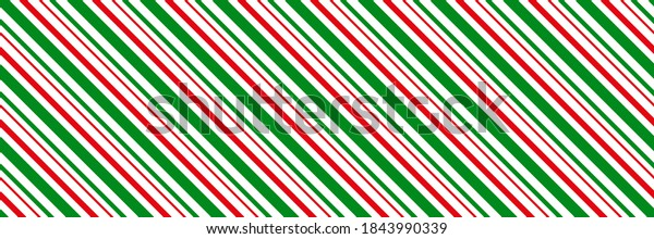 Peppermint candy cane Christmas background,  diagonal stripes print seamless pattern