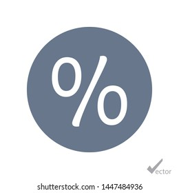 Per cents and rate vector icon. The sign of a per cent. The symbol of per cents.
