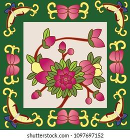 Peranakan Tiles Pattern