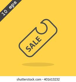 percent discount sign, web icon. vector design