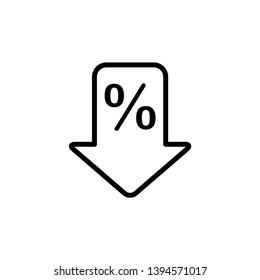 percent down icon, illustration template