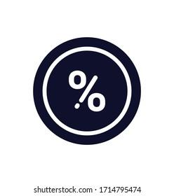 Percent icon, Percent illustration sign, Vector illustration, EPS10.