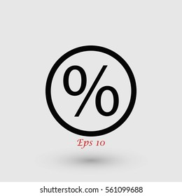 percent icon vector, flat design best vector icon