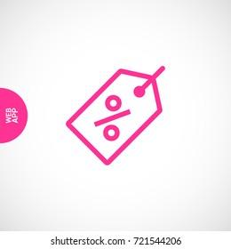 Percent Label Tag Icon