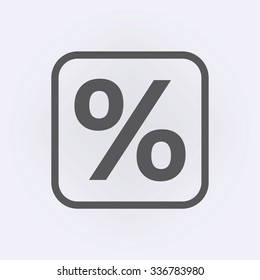 Percent sign . Vector illustration