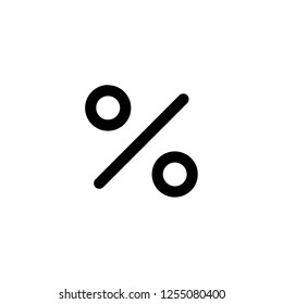 percentage icon vector. percentage vector graphic illustration