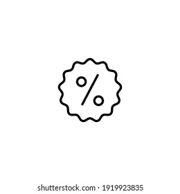 Percentage icon vector for web, computer and mobile app