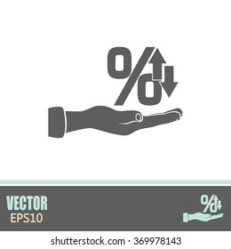 percentages up and down Flat design style