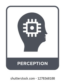 perception icon vector on white background, perception trendy filled icons from Brain process collection, perception vector illustration