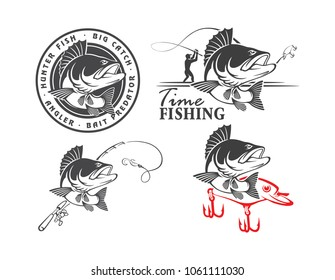 perch fishing icons