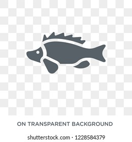 Perch icon. Trendy flat vector Perch icon on transparent background from animals  collection. High quality filled Perch symbol use for web and mobile