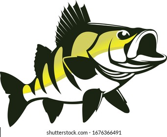 Perch Logo. A Unique Perch fish Vector. great for perch fishing logo template, Tshirts & Decal