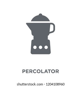 percolator icon. percolator design concept from Electronic devices collection. Simple element vector illustration on white background.