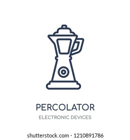 percolator icon. percolator linear symbol design from Electronic devices collection.