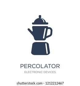 percolator icon. Trendy flat vector percolator icon on white background from Electronic devices collection, vector illustration can be use for web and mobile, eps10