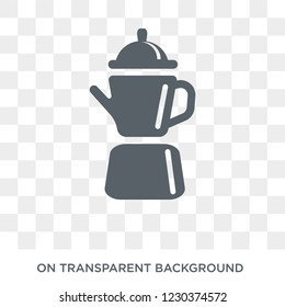 percolator icon. Trendy flat vector percolator icon on transparent background from Electronic devices collection.
