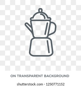 percolator icon. Trendy flat vector percolator icon on transparent background from Electronic devices collection. High quality filled percolator symbol use for web and mobile