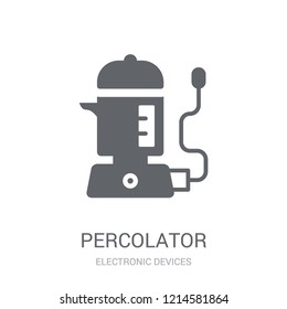 percolator icon. Trendy percolator logo concept on white background from Electronic Devices collection. Suitable for use on web apps, mobile apps and print media.