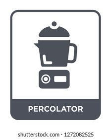 percolator icon vector on white background, percolator trendy filled icons from Electronic devices collection, percolator simple element illustration
